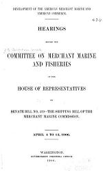 Development of the American Merchant Marine and American Commerce