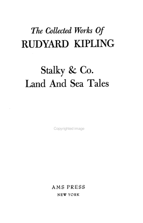 Stalky   Co  Land and sea tales PDF