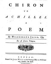 Chiron to Achilles: A Poem
