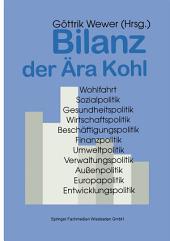Bilanz der Ära Kohl: Christlich-liberale Politik in Deutschland 1982–1998