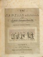 The New-York Mirror, and Ladies' Literary Gazette
