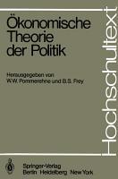 konomische Theorie der Politik PDF