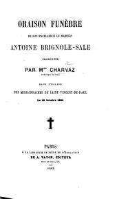 Oraison funèbre de son Excellence le marquis Antoine Brignole-Sale, etc