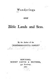 Wanderings Over Bible Lands and Seas