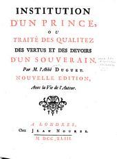 Institution d'un prince: Volume3