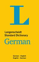 Langenscheidt Standard Dictionary German PDF