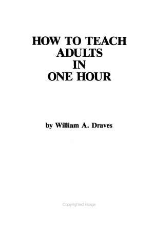 How to Teach Adults in One Hour