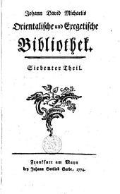 Orientalische und exegetische Bibliothek: Bände 7-9