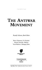 The Anti war Movement PDF