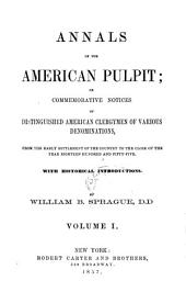Annals of the American Pulpit: Trinitarian Congregational. 1857