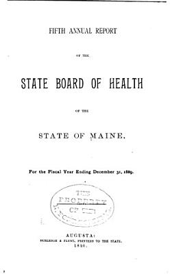 Annual report of the State Department of Health of Maine  1889 90 PDF