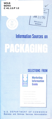 Information Sources on Packaging