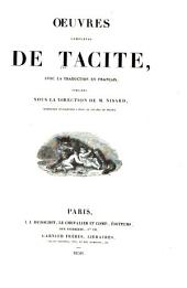 Oeuvres complètes de Tacite: avec la traduction en français, Volume7