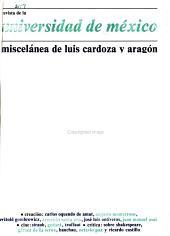 Revista de la Universidad de M  xico PDF