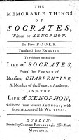 The Memorable Things of Socrates  In Four Books  Translated from the Greek of Xenophon  A New Edition  Corrected and Improved  To which is Prefixed  Observations on the Life  Character  and Doctrine of Socrates PDF