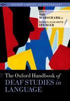 The Oxford Handbook of Deaf Studies in Language PDF