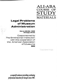 Legal Problems of Museum Administration PDF