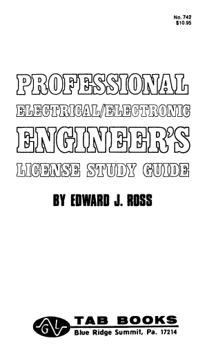 Professional Electrical electronic Engineer s License Study Guide PDF