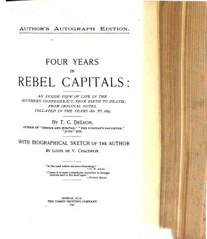Four Years in Rebel Capitals PDF