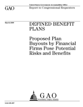 Defined Benefit Plans: Proposed Plan Buyouts by Financial Firms Pose Potential Risks and Benefits