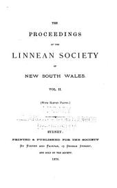 Proceedings of the Linnean Society of New South Wales: Volume 2