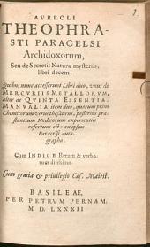 Archidoxa Seu de Secretis Naturae mysteria