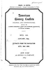 American History Leaflets: Colonial and Constitutional, Issues 19-30