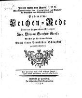 Polemische Leichenrede über den sogenannten Erlanger Hrn. Johann Gottfried Groß ...