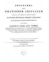 Programma quo orationem aditialem Hor. X. D. X. M. Martii A. MDCCCXXVII. illustris Ictorum ordinis concessu in auditorio iuridico recitandam