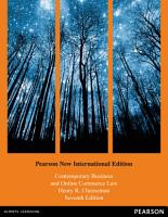 Contemporary Business and Online Commerce Law  Pearson New International Edition PDF