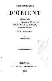 Correspondance d'Orient 1830-1831: Volume5