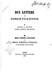 Due lettere di Giorgio Pallavicino 1. Risposta al deputato Pier Carlo Boggio