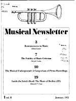 Musical Newsletter