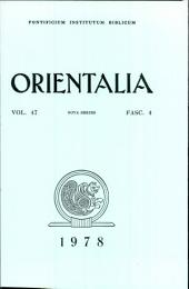 Orientalia Vol.47