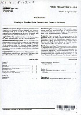 Catalog of Standard Data Elements and Codes PDF