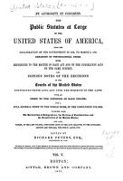The Public Statutes at Large of the United States of America PDF