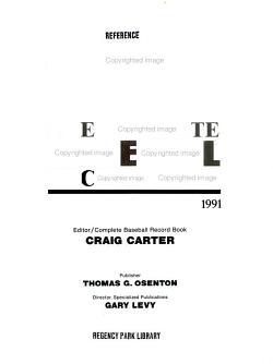 The Complete Baseball Record Book  1991 PDF