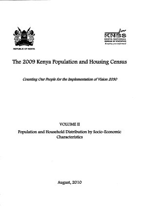 The 2009 Kenya Population and Housing Census  Population and household distribution by socio economic characteristics PDF