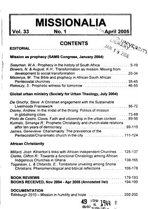 Missionalia PDF