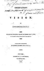 Observations on Vision