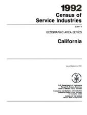 1992 Census of Service Industries: Geographic area series. California