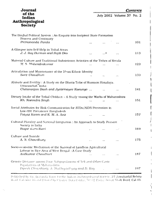 Journal of the Indian Anthropological Society PDF