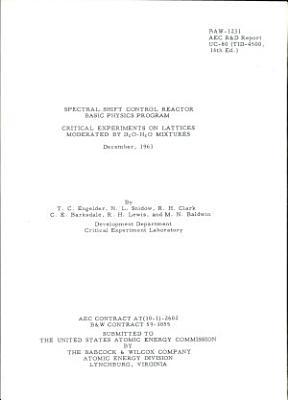 Spectral Shift Control Reactor Basic Physics Program