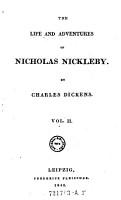 The Life And Adventures Of Nicholas Nickleby   Vol  I PDF