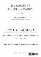 College Algebra Enhanced W Graphg Utilities PDF
