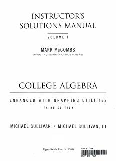 College Algebra Enhanced W Graphg Utilities Book