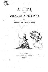 Atti dell' Accademia italiana di scienze, lettere, ed arti: Volume 1,Parte 2