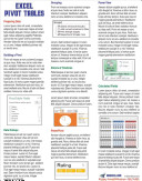 Excel Pivot Tables Laminated Tip Card PDF