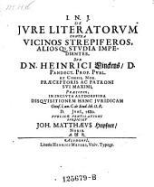 De jure literatorum contra vicinos strepiferos, aliosque studia impedientes; praes. Henr. Linck