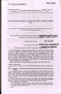 White Sands Missile Range Security Enhancement Act